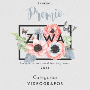 Reelove ganador de premios ZIWA 2016  de Zankyou Weddings